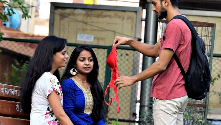 pulling bra from hair prank avrpranktv pranks in india