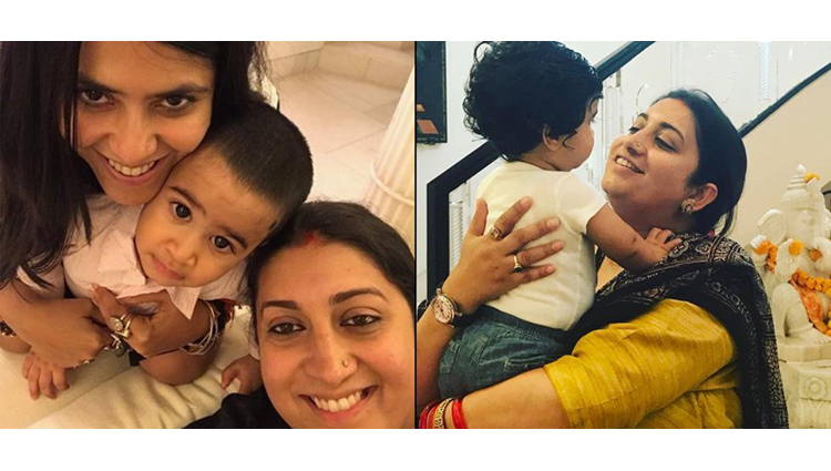 Tusshar Kapoor's Son Laksshya Is Playing With Smriti Irani, See In Pics