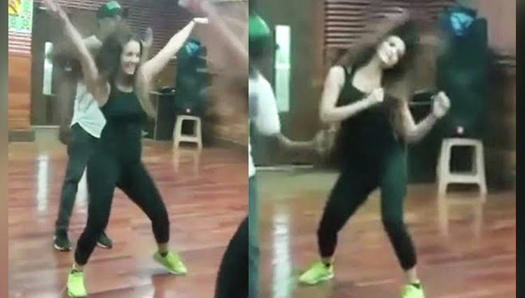 Sana Khan Latest Dance Rehearsal Video 2017