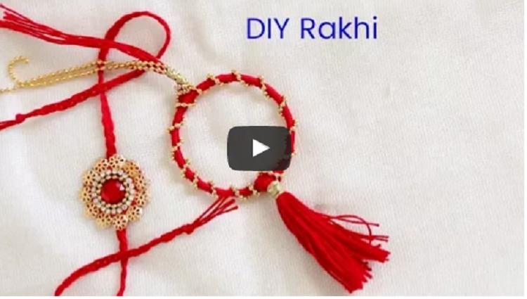How to Make Rakhi and Lumba From Kids Bangle DIY Rakhi inspiration kid zone