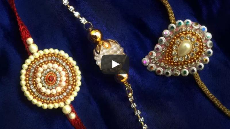 how to make rakhi at home
