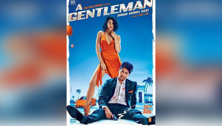 a new poster A Gentleman posters Sidharth Malhotra Jacqueline Fernandez