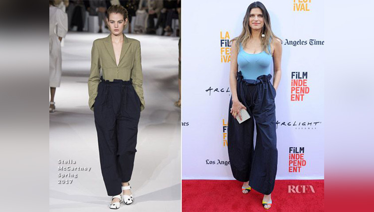 Paper Bag Waist Pant Trend on instagram and hollywood celebs