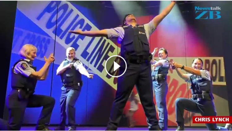 New Zealand Police officers dance on Bollywood song