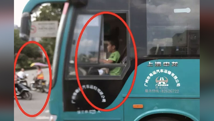 12-year-old Chinese kid steals bus takes it for 30-minute joyride