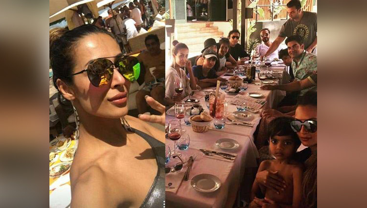 Malaika arora spain vacation with family