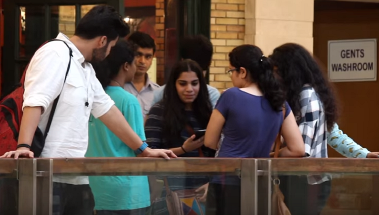 Mysterious Attention Seeking INVISIBLE Girlfriend In MALL PRANK