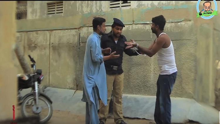Police thief Funny Prank By Nadir Ali and Asim Sanata In P4 Pakao