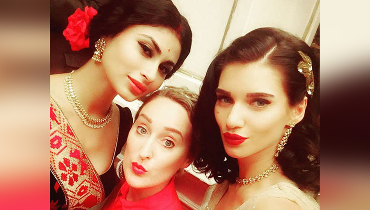 Mouni Roy Spotted With Scarlett Wilson On The Set Of Gold
