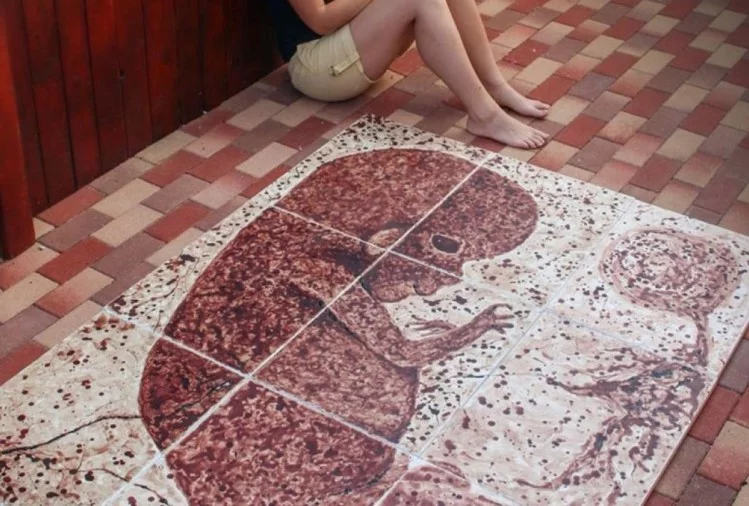 painting made with periods blood