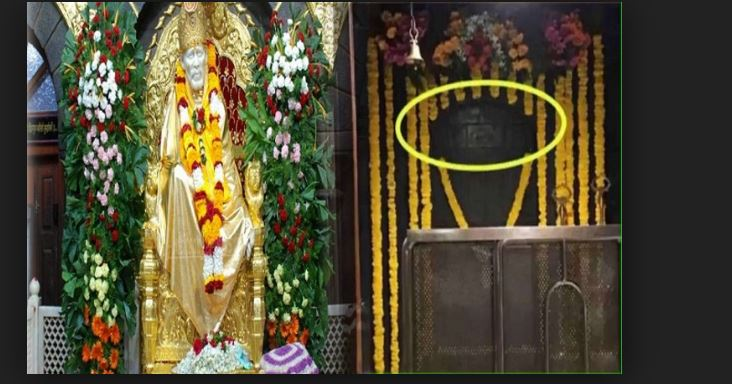 Sai Baba Image Appears on The Wall of Shirdi Sai Temple