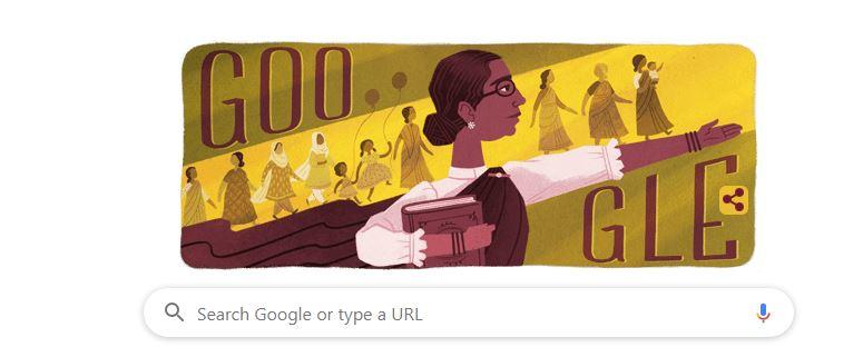 google doodle dr muthulakshmi reddi