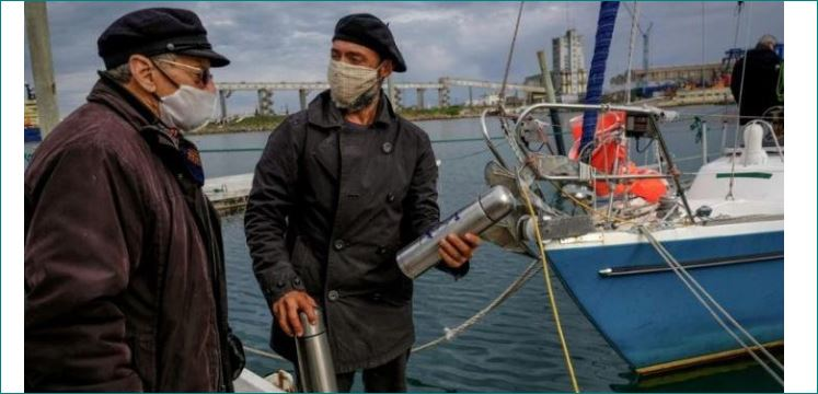 With Flights Banned Son Sails Solo Across Atlantic to Reach Father