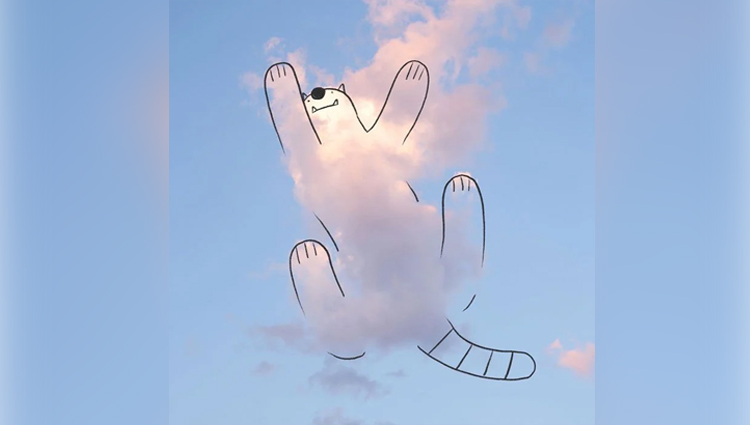 cloud doodles by chris judge