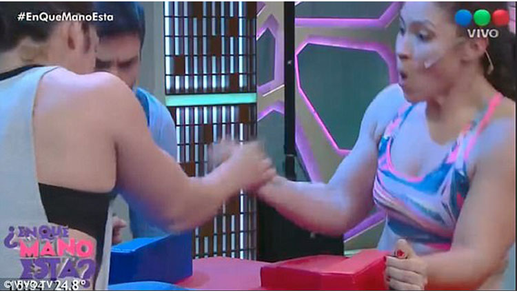Woman's bone snaps in arm-wrestle on Argentinian TV show