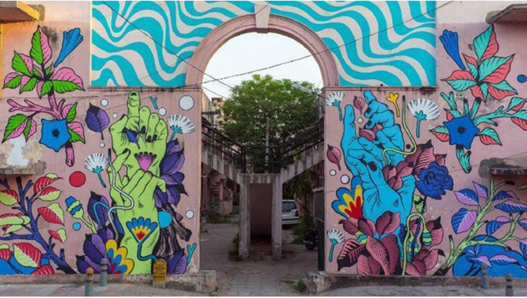 New India inspired murals at Lodhi Art District Brazilian artists behind works