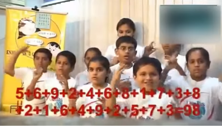 amazing abacus maths calculation by indian kids
