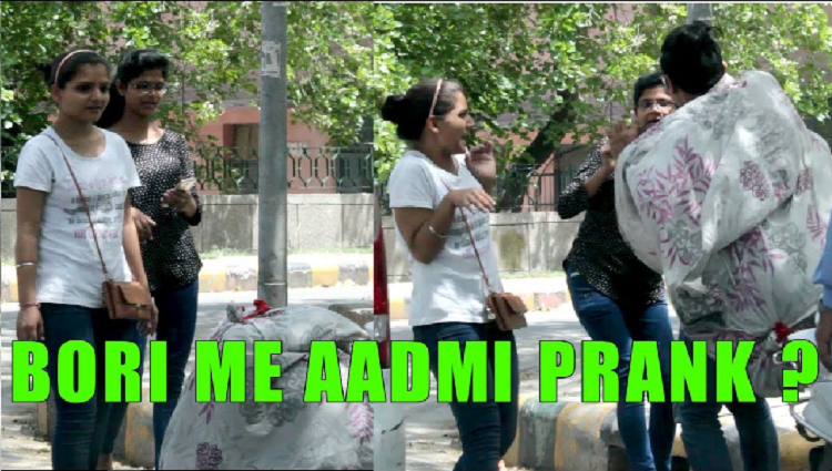 Bori Mein Laash Prank on Girls pranks in India