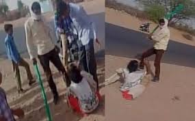 Video shows two men thrashing mentally challenged woman in Rajasthans Nagaur