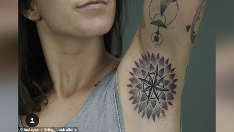 These trendy armpit tattoos are beautiful but weird as hell
