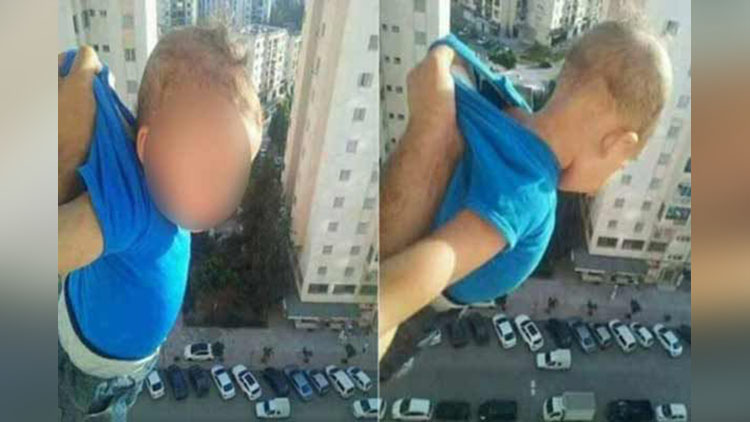 father hang his son for facebook likes