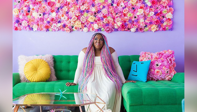 Amina Mucciolo's brightly coloured apartment is an Instagram