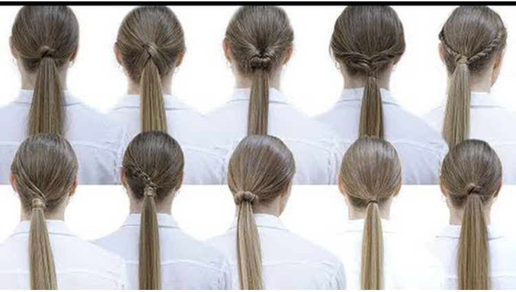 10 easy hairstyles with ponytails for school Patry Jordan