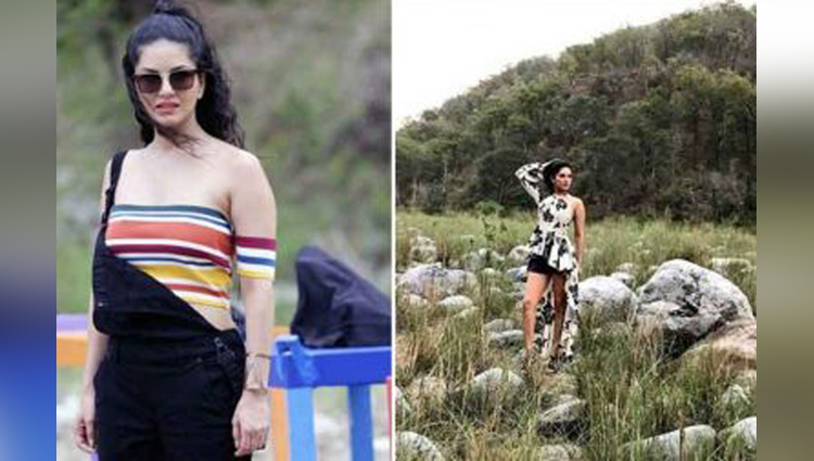sunny leone makes a special friend as she begins shooting for mtv