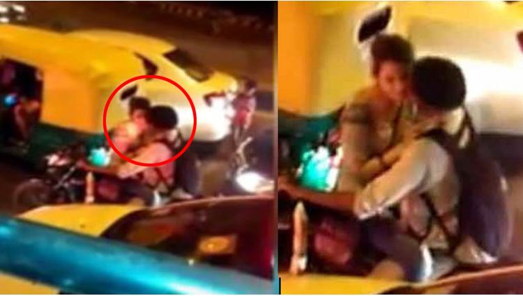 Obscene couple on delhi road