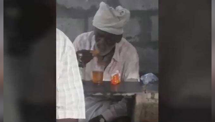 Biscuit dipped in drink(wine) and eat | old man funniest thing