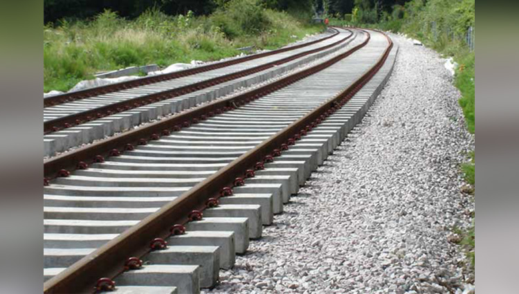 Why is the ballast on the railway track