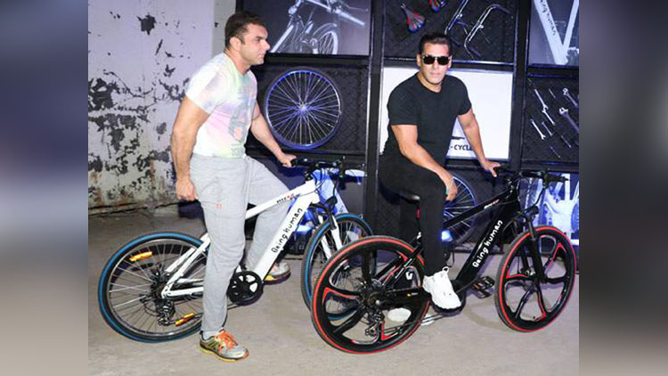 Photos Salman Khan Launches The Being Human E Cycle Viral