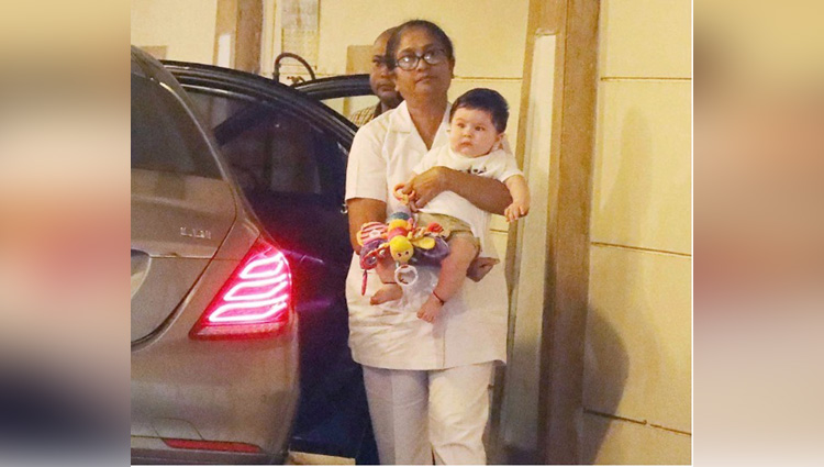 taimur ali khan is back home after a weekend trip to granny babita