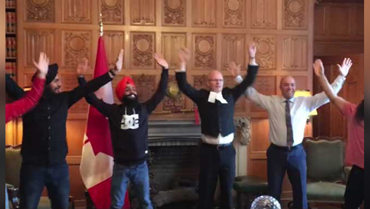 maritime bhangra group on parliament of canada video goes viral