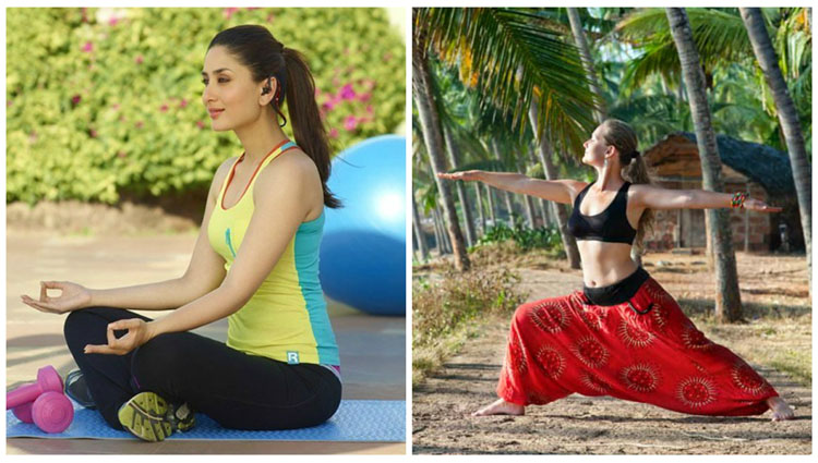 the best photos of bollywood celebrities in yoga poses