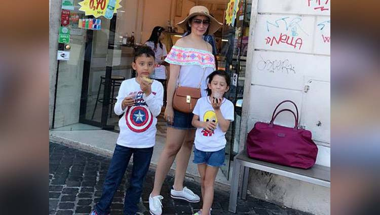 Manyata Dutt Is Spending Holidays In Italy With Children