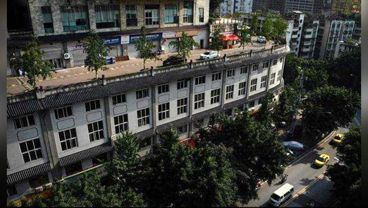 5-storey building has a road on its roof see pics to believe it