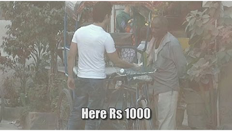 This Rickshaw Puller Refused Rs 1000 for Rs 50 Fare
