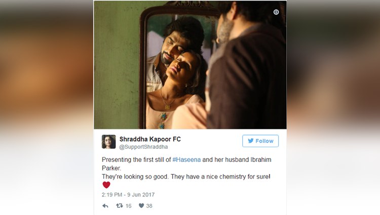 shraddha kapoor and ankur bhatias intimate picture from haseena  goes viral