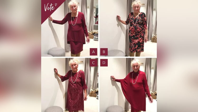 A 93-year-old bride is asking the internet to help her pick her wedding dress