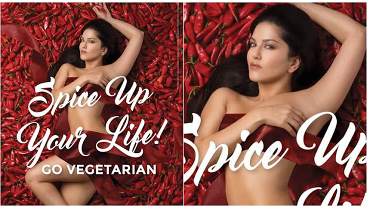 Sunny Leone goes Bold and looks HOT in PETA Ad