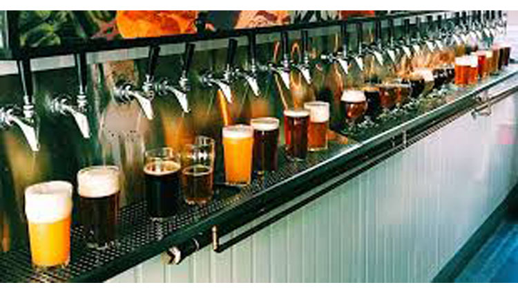 brooklyn bar turns wall of taps into beer atm