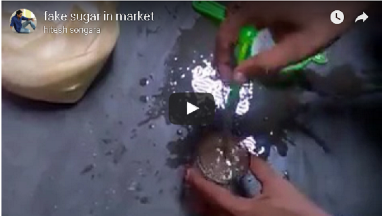 fake sugar in market