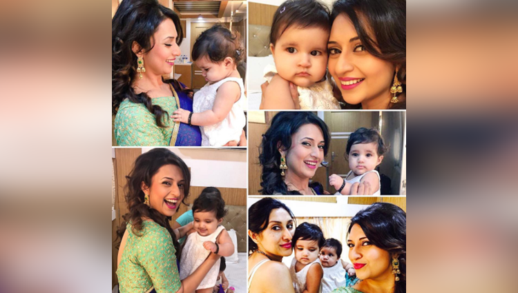 divyanka tripathi meets karanvir bohras adorable twin daughters