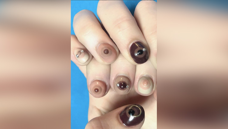 Artist is freeing the nipple with boob-themed nail art