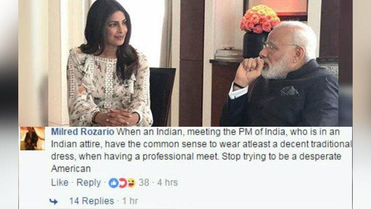 Priyanka meets PM Modi in Berlin; Twitter reminisce 'Sanskar'