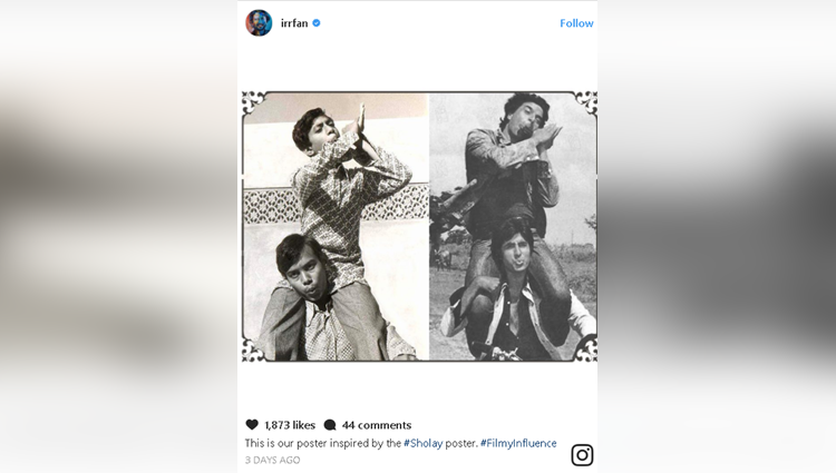 Irrfan Khan debuts on Instagram with childhood pics inspired