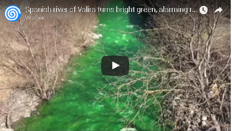 Spanish river of Valira turns bright green alarming residents