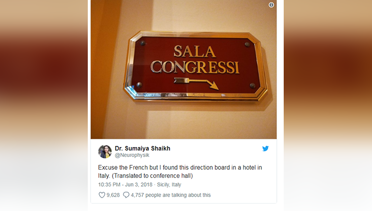 Every Sala Congressi Board Found In Italian Hotel