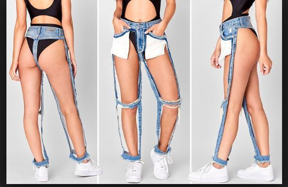 Reverse Jeans Trend Weird Jeans